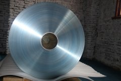 Coated aluminum foil